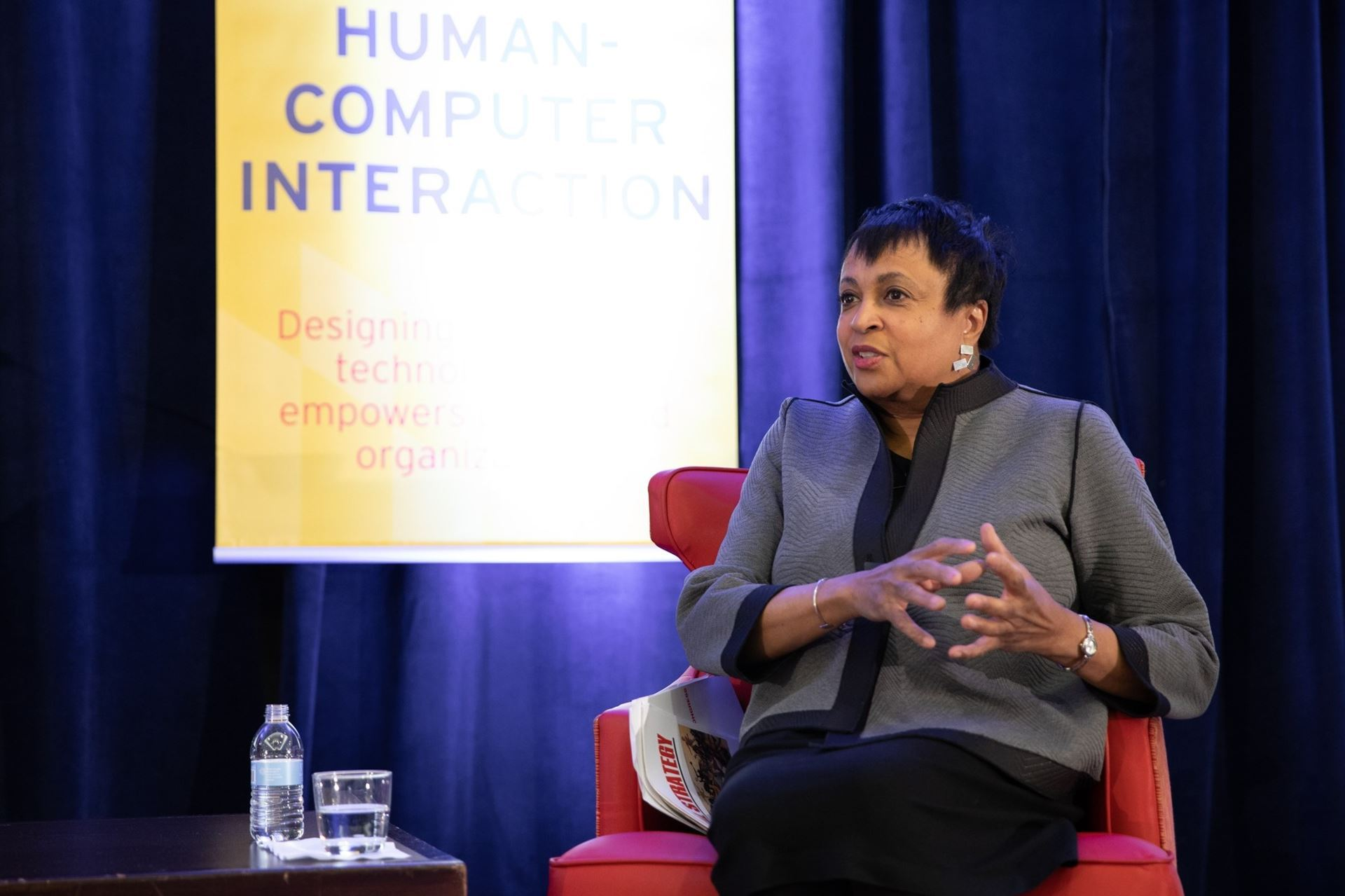 Carla Hayden, Librarian of Congress, speaking at the 2019 iSchools' iConference. (Image by Craig Taylor University of Maryland)